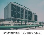 sets of cooling towers in data...   Shutterstock . vector #1040977318