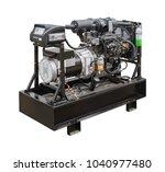 mobile  portable mobile diesel... | Shutterstock . vector #1040977480