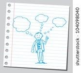 businessman having ideas | Shutterstock .eps vector #104098040