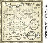 set of design elements  labels  ... | Shutterstock .eps vector #104098253