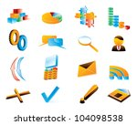 three dimensional icons. raster ... | Shutterstock . vector #104098538