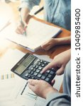 business and finance concept of ... | Shutterstock . vector #1040985400