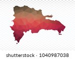 map polygonal dominican... | Shutterstock .eps vector #1040987038