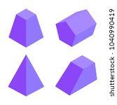 four prisms banner  geometric... | Shutterstock .eps vector #1040990419
