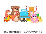 robots and horse collection of... | Shutterstock .eps vector #1040990446