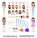 woman construction collection ... | Shutterstock .eps vector #1040990470