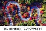 autumn scenery of korean... | Shutterstock . vector #1040996569