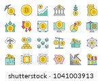 crypto currency concept ...   Shutterstock .eps vector #1041003913