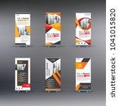 6 set roll up banner business | Shutterstock .eps vector #1041015820