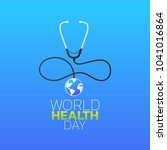 world health day logo icon... | Shutterstock .eps vector #1041016864