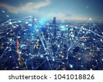 fast connection in the city.... | Shutterstock . vector #1041018826