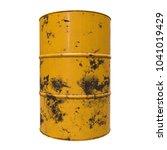 old rust metal barrel oil... | Shutterstock . vector #1041019429