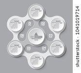 vector abstract 3d paper... | Shutterstock .eps vector #1041019714