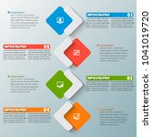 vector abstract 3d paper... | Shutterstock .eps vector #1041019720