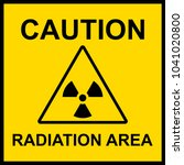 caution radiation area sign | Shutterstock .eps vector #1041020800