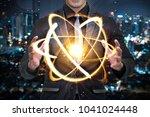 quantum computer technology... | Shutterstock . vector #1041024448