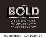 vector of retro bold font and... | Shutterstock .eps vector #1041025414