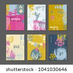 vector collection of spring... | Shutterstock .eps vector #1041030646