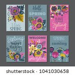 vector collection of spring... | Shutterstock .eps vector #1041030658