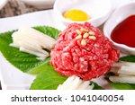 korean style raw beef | Shutterstock . vector #1041040054