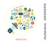 concept of digital marketing   Shutterstock .eps vector #1041042553