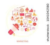 concept of digital marketing   Shutterstock .eps vector #1041042580