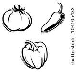 vegetables | Shutterstock .eps vector #104105483
