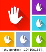 illustration of hand icons with ... | Shutterstock .eps vector #1041061984