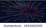 lines composition of glowing... | Shutterstock .eps vector #1041063340