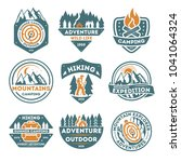 adventure outdoor vintage... | Shutterstock . vector #1041064324