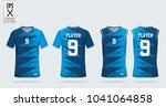 blue t shirt sport design... | Shutterstock .eps vector #1041064858