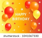 happy birthday background... | Shutterstock .eps vector #1041067330