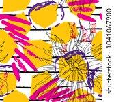 tropical  stripe  animal motif. ... | Shutterstock .eps vector #1041067900