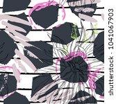 tropical  stripe  animal motif. ... | Shutterstock .eps vector #1041067903