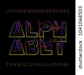 decorative geometric alphabet... | Shutterstock .eps vector #1041068503