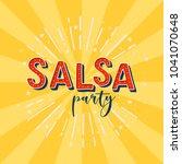 salsa party vector logotype....