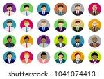 business person avatar... | Shutterstock .eps vector #1041074413