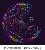 moving colorful lines of... | Shutterstock .eps vector #1041076579