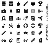 flat vector icon set   book...   Shutterstock .eps vector #1041078868