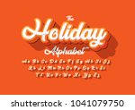vector of stylized cursive font ... | Shutterstock .eps vector #1041079750