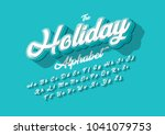 vector of stylized cursive font ... | Shutterstock .eps vector #1041079753