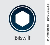 bitswift. cryptographic... | Shutterstock .eps vector #1041081166