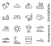 flat vector icon set   baby... | Shutterstock .eps vector #1041085696