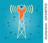 wireless network repair... | Shutterstock .eps vector #1041087910