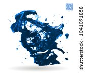 blue brush stroke and texture.... | Shutterstock .eps vector #1041091858