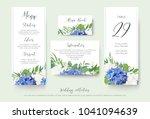 wedding floral personal menu ...   Shutterstock .eps vector #1041094639