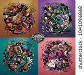 music cartoon vector doodle... | Shutterstock .eps vector #1041096868