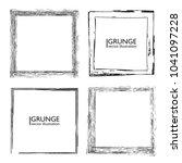 vector frames. squares for... | Shutterstock .eps vector #1041097228