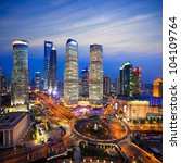 shanghai lujiazui finance and... | Shutterstock . vector #104109764