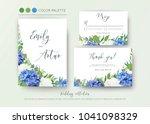 wedding floral invite ...   Shutterstock .eps vector #1041098329